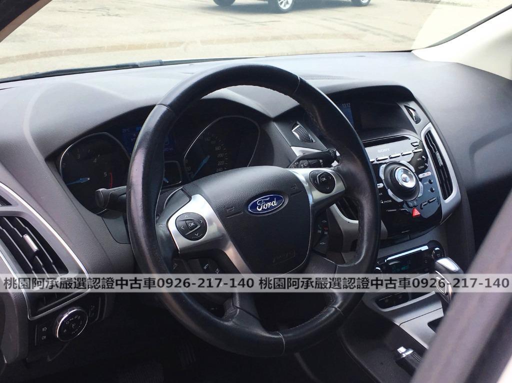 【FB搜尋桃園阿承】福特 超人氣FOCUS TDCI跑10萬 2013年 2.0CC 白色 二手車 中古車