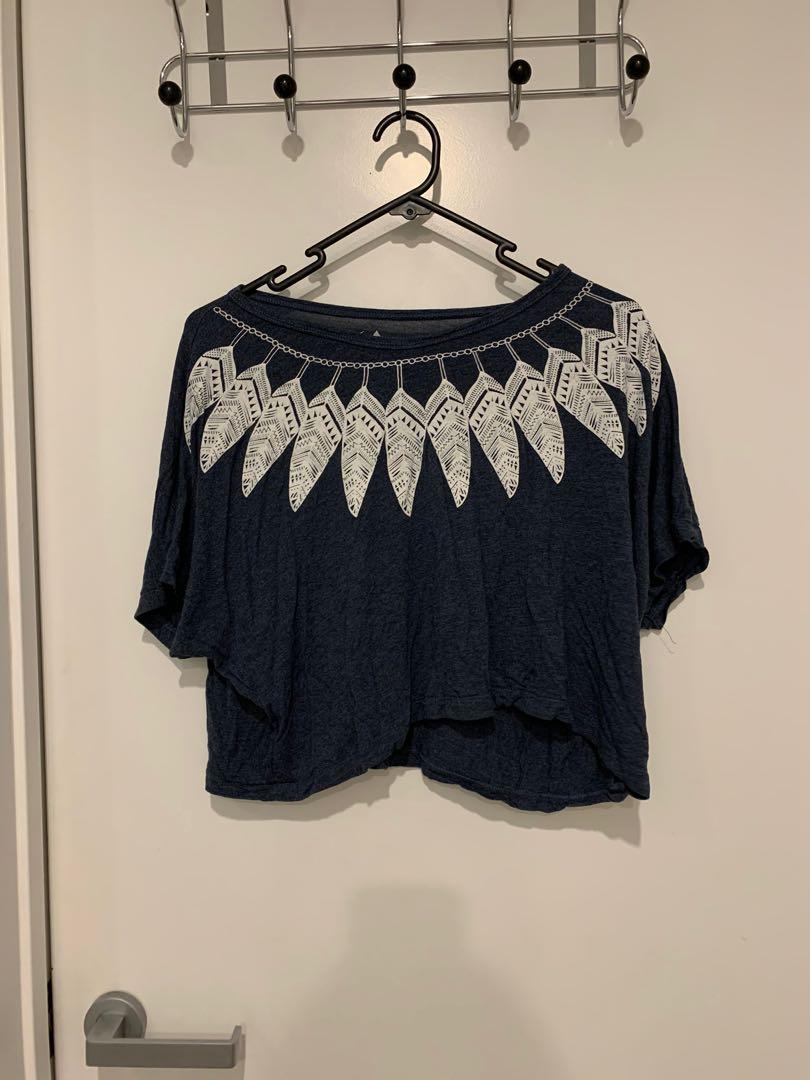 Feather Detailed T-Shirt
