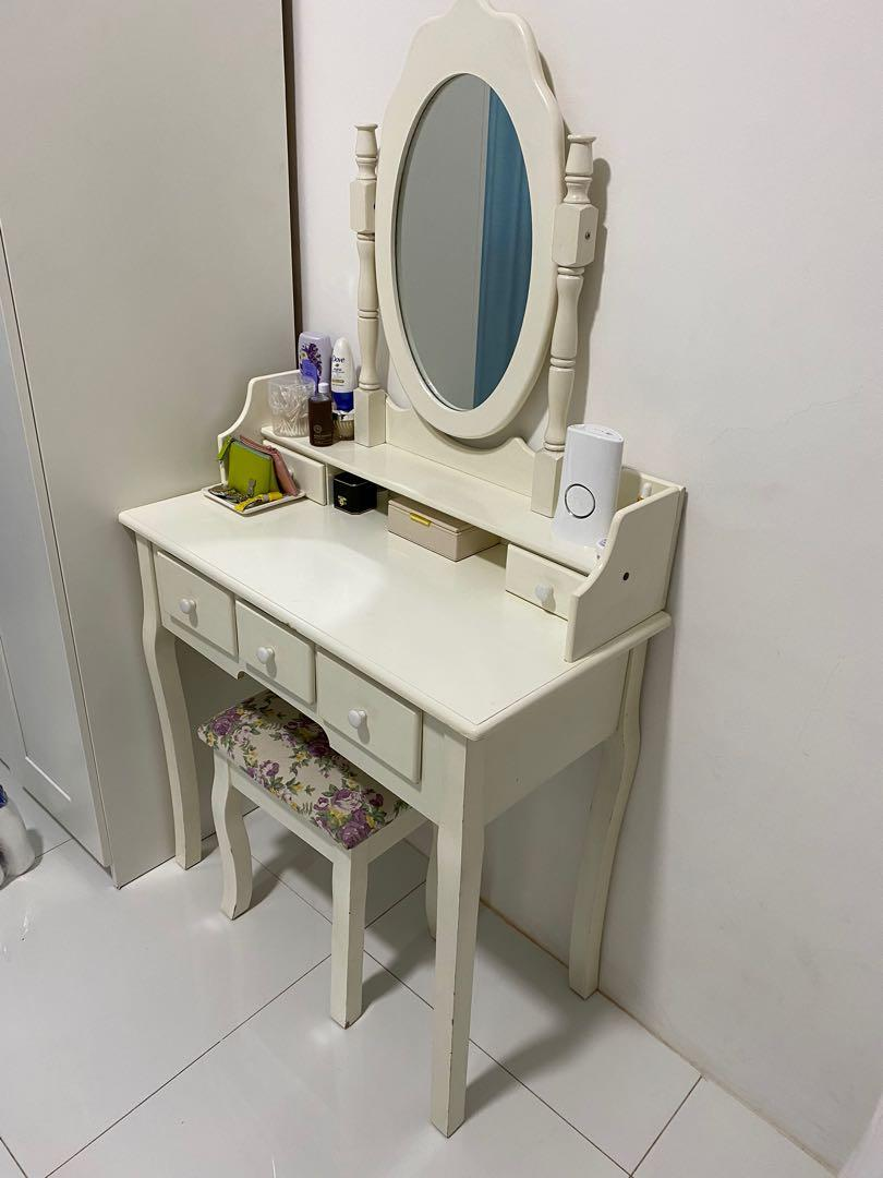 Ikea Vanity Table With Mirror Home Furniture Furniture Fixtures Tables Chairs On Carousell