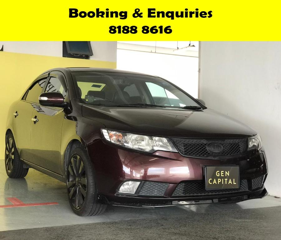 Kia Cerato Forte EARLY MOTHERS' DAY PROMO @ 50% OFF! FULLY SANITISED AND GROOMED BEFORE HANDING OVER! WHATSAPP 8188 8616 NOW TO RESERVE A CAR TODAY!