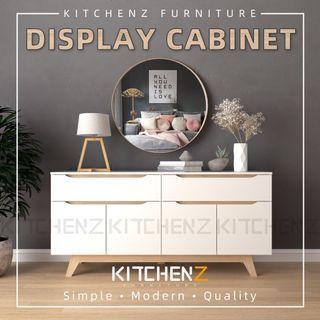 Kitchenz Simona 5.5Ft Display Cabinet Modernist Design Solid Board