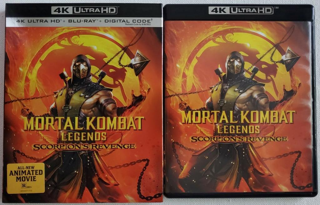 Mortal Kombat Legends Scorpion S Revenge 4k Ultra Hd Blu Ray 2 Disc Slipcover Us Import New No Digi Code Original Music Media Cd S Dvd S Other Media On Carousell