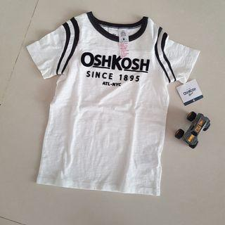 NEW - Oshkosh White Tshirt size 8