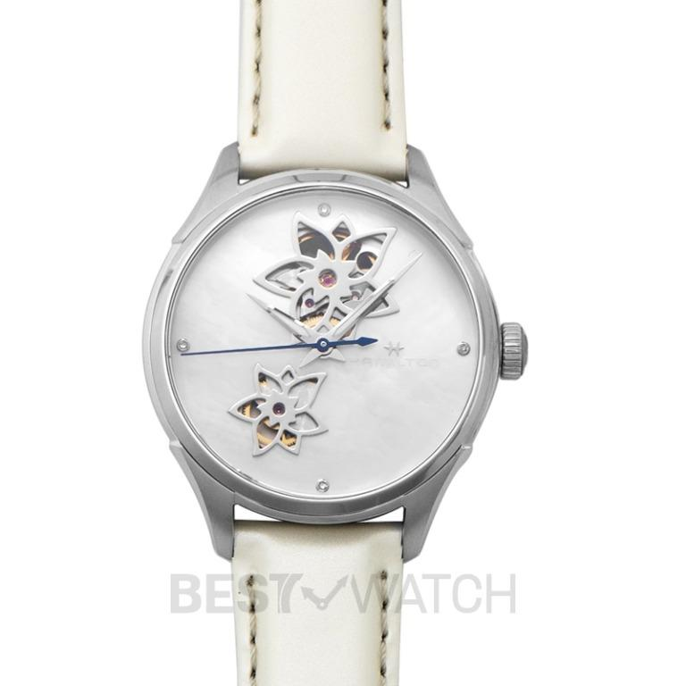 [NEW] Hamilton Jazzmaster Open Heart Automatic Mother of Pearl Dial Stainless Steel Ladies Watch H32115892