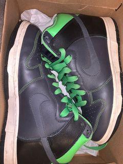Nike Dunk High - Grey & Green