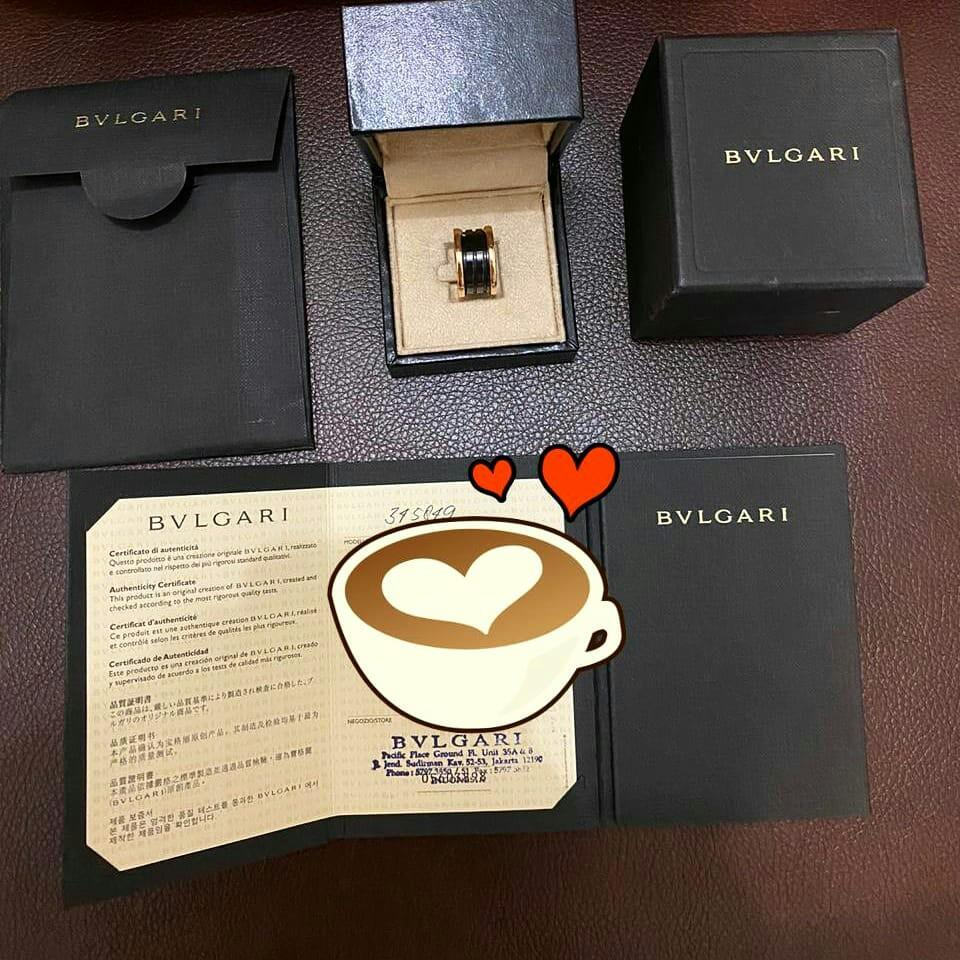 PRELOVED BVLGARI B Zero 1 Ring In Rose Gold  Comes with Box + Certificate + Ori Rec  Size 52