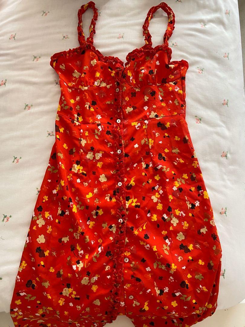 Realization Par Juliet Rouge Fleur Dress Dupe XS/S