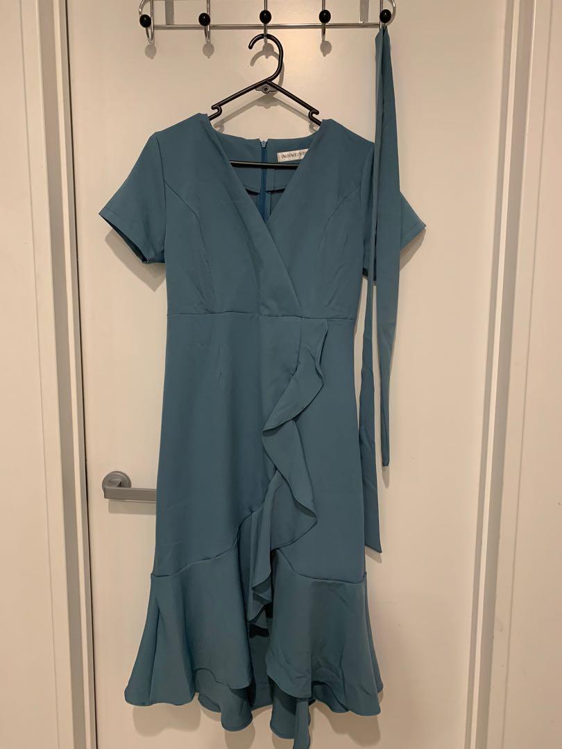 Ruffle Blue Dress