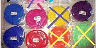 Shoelace flat 140cm various of colour