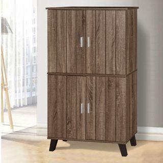 4 Doors Shoes cabinet cole 4 dark somana oak