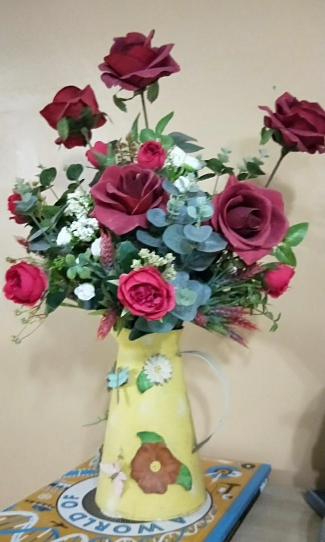 Artificial Flower Arrangement Vase Furniture Home Decor Others On Carousell
