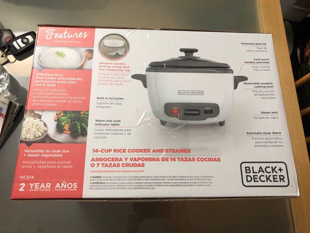 Brand New Black + Decker 14 Cup Rice Cooker & Sreamer$35