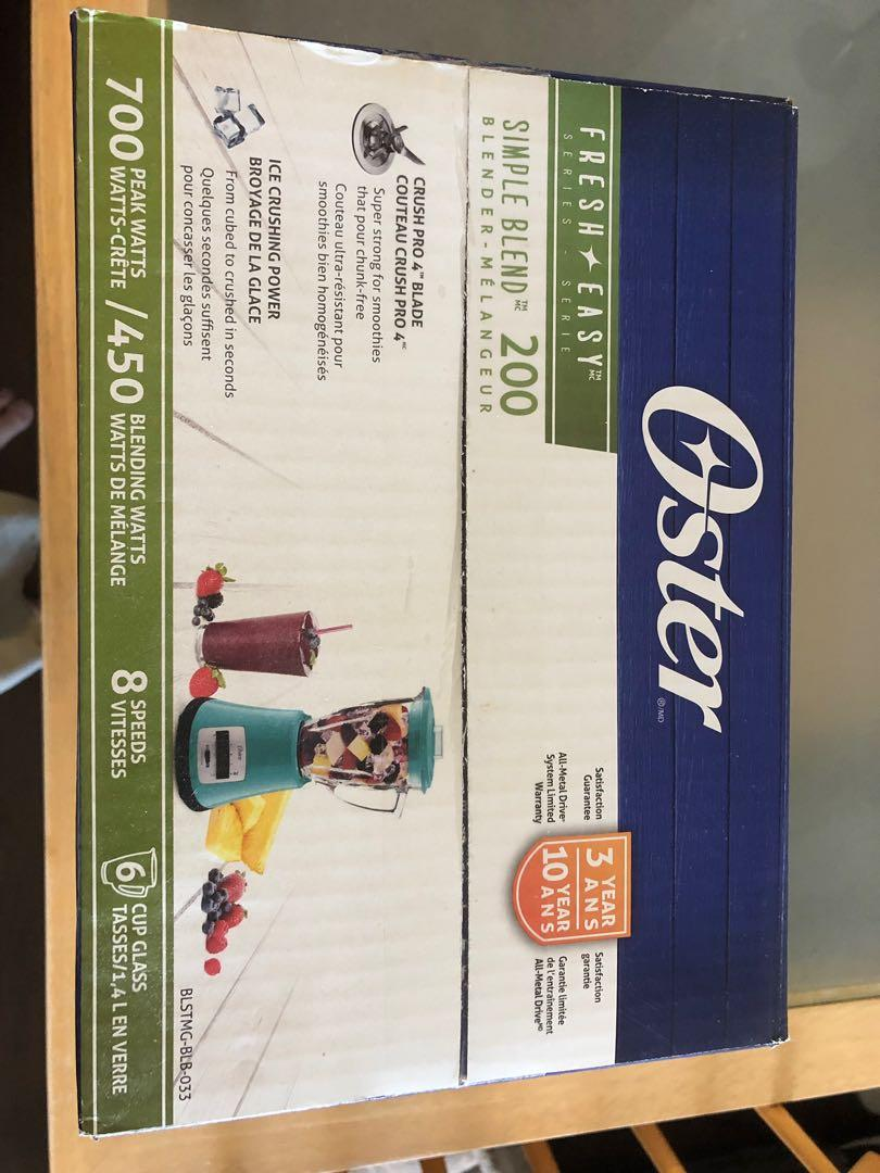 Brand New in box Oster 8 Speed 700w Blender 6 cup Glass $33