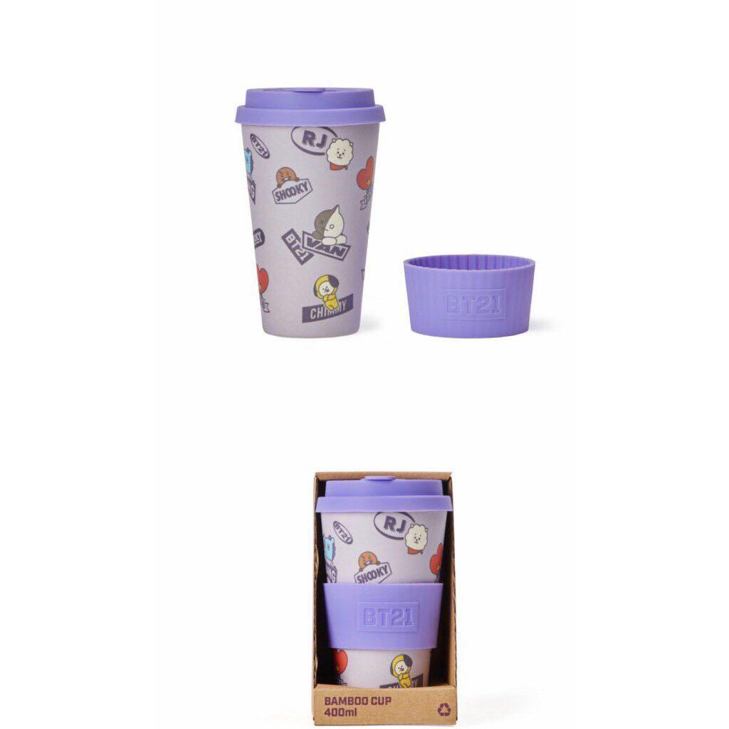 Bt21 official BABY VERSION authentic bamboo cup 400ML