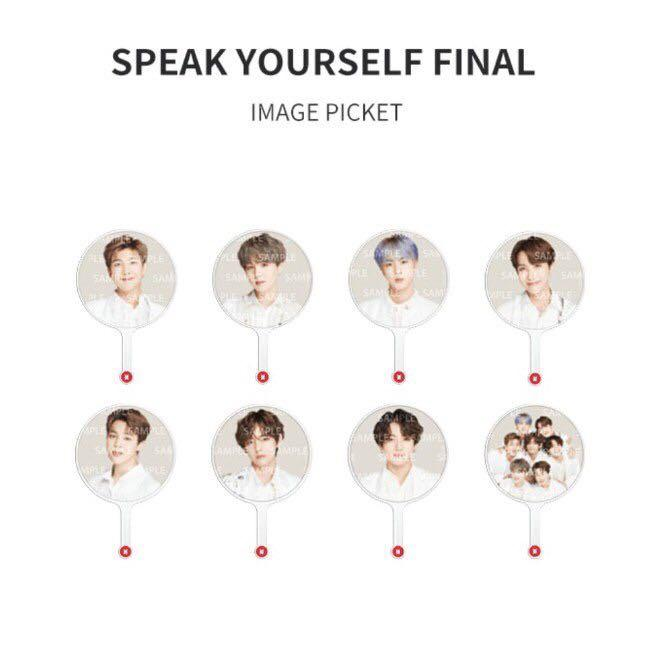 BTS Official Speak Yourself Final Image Picket Ready Stock in Korea