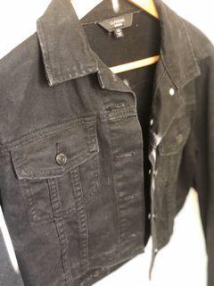 Crop Black Denim Jacket