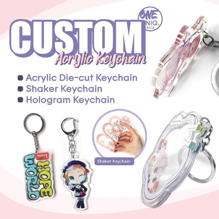 Custom Acrylic Keychain/Keyring, Shaker Keychain, Hologram Keychain 亚克力定制钥匙扣