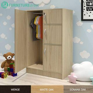 Furniture Direct BARRY children wardrobe with key lock/ almari baju kanak