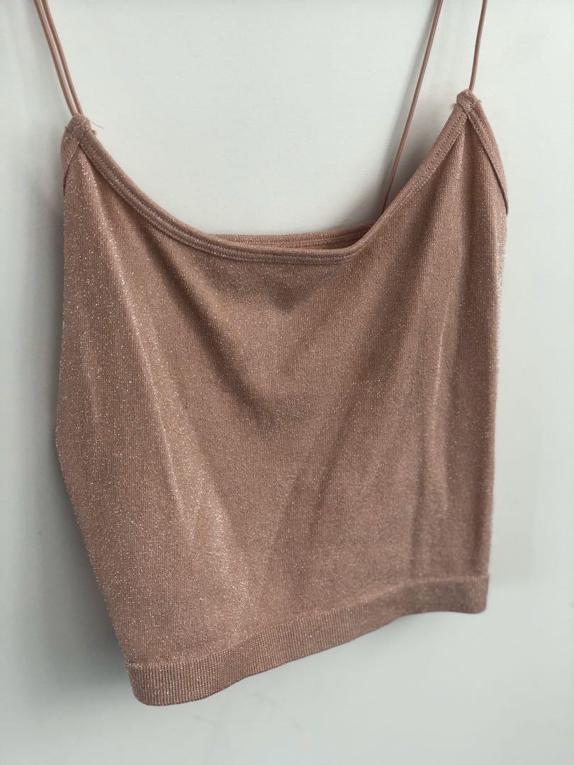 Glitter Pink Stretch Camisole