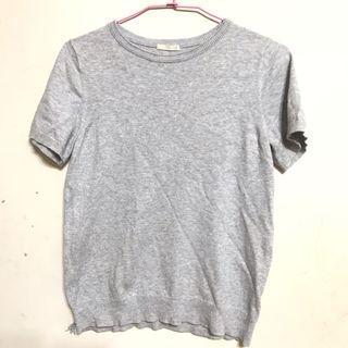 GU薄針織短袖上衣T恤