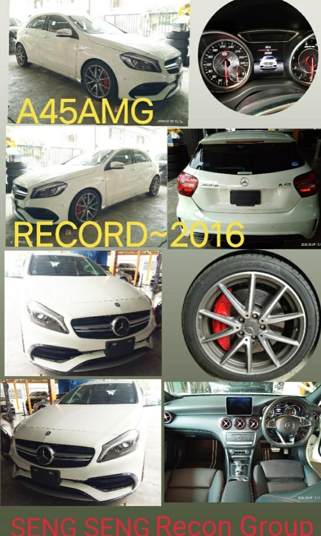 MERCEDES BENZ A45 AMG	2.0T RECORD2016⭐PRICE~ON THE ROAD☺ RM248,888.88~👍🗣📱~0⃣1⃣2⃣2⃣3⃣6⃣7⃣2⃣7⃣2⃣SENGSENG☺🙏