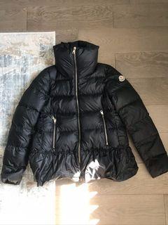 Moncler black coat size 0