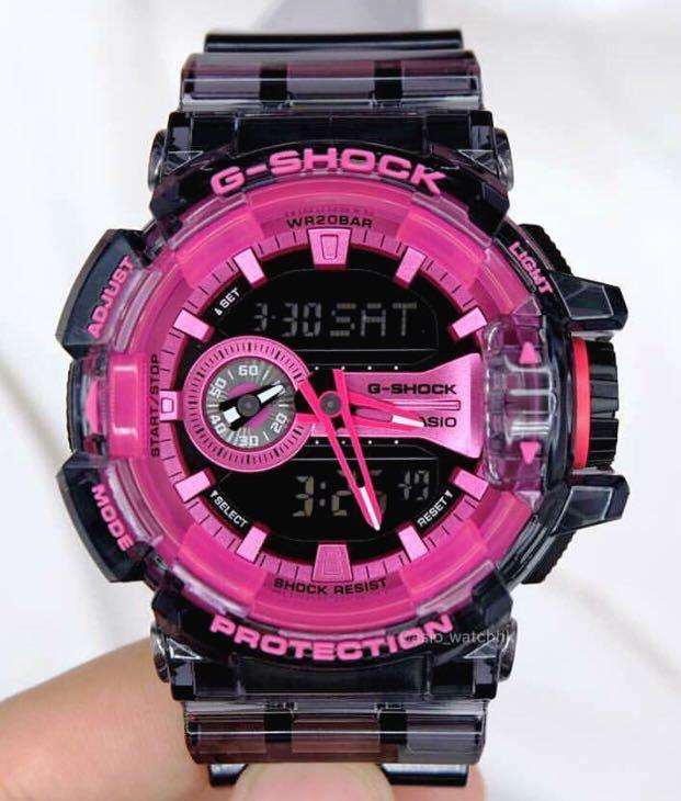 NEW🌟GSHOCK SKELETON UNISEX DIVER SPORTS WATCH : 100% ORIGINAL AUTHENTIC CASIO G-SHOCK : GA400SK-1A4 (TRANSPARENT-BLACK)