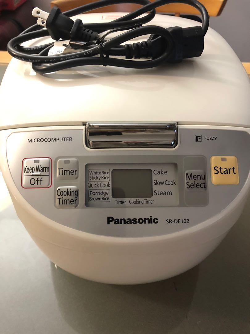 Panasonic 5-Cup Fuzzy Logic Electronic Rice Cooker SR DE102 $50