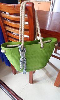 Preloved Crocs ladies bag green bought in Singapore