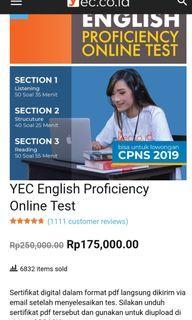 Sertifikat TOEFL Online