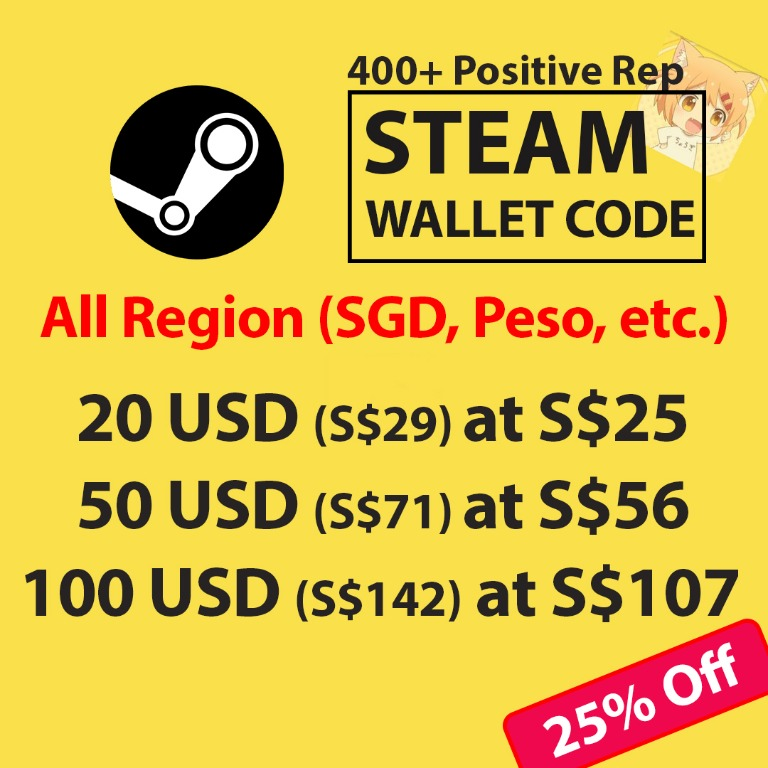 Steam Wallet Code ( SGD & USD ), Toys & Games, Video