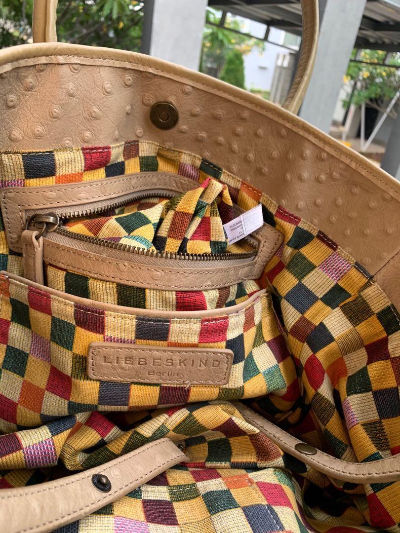 tas original liebeskind berlin ostrich leather preloved second bekas authentic