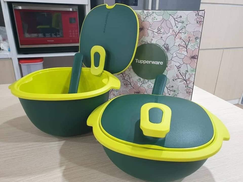 Tupperware Warmie Tup Microwaveable Food Serving Set Emerald Green