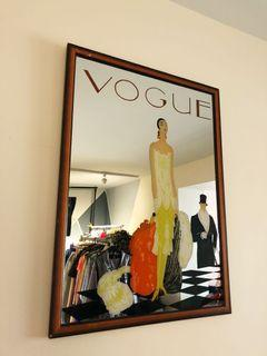 Vogue inspired painted mirror