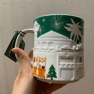全新 星巴克 聖誕 城市馬克杯 台南TAINAN