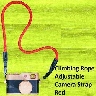 全新 快裝拆登山繩相機帶 Quick Release Connect Climbing Rope Camera Strap 紅色 Red