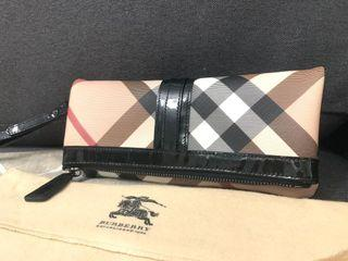 Authentic Burberry Fold Over Clutch