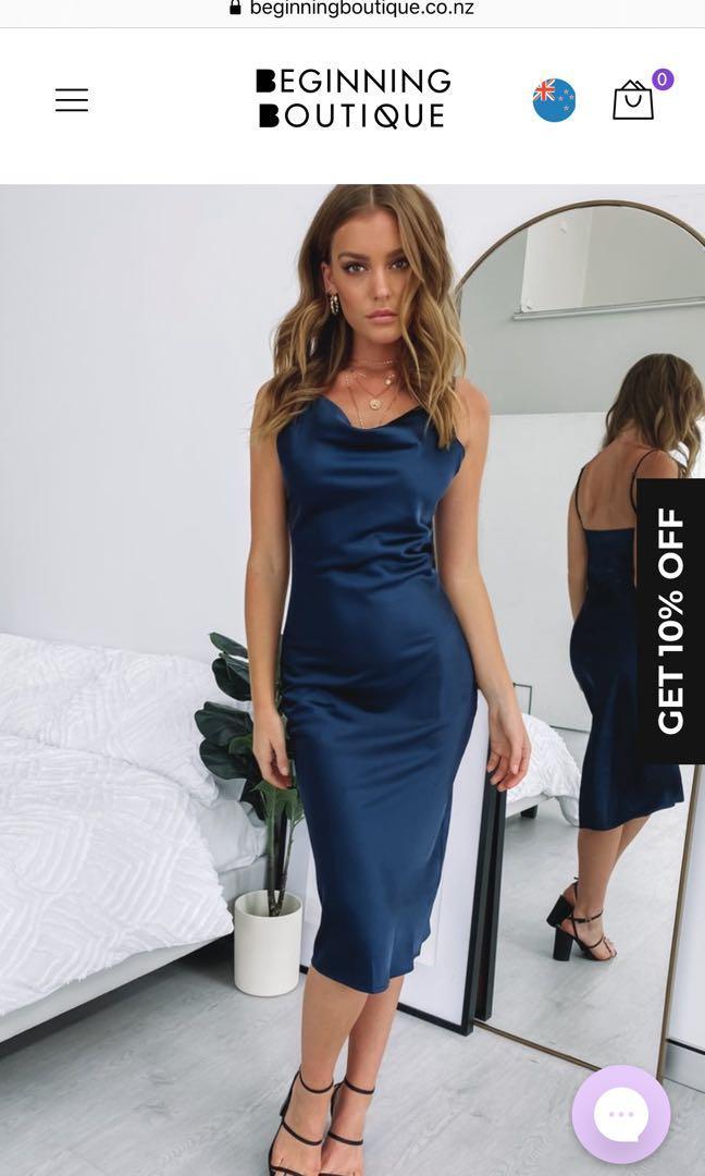 Beginning Boutique Navy Dress