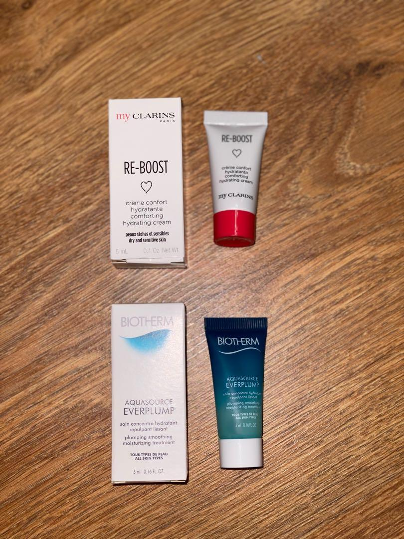Biotherm & my Clarins samples