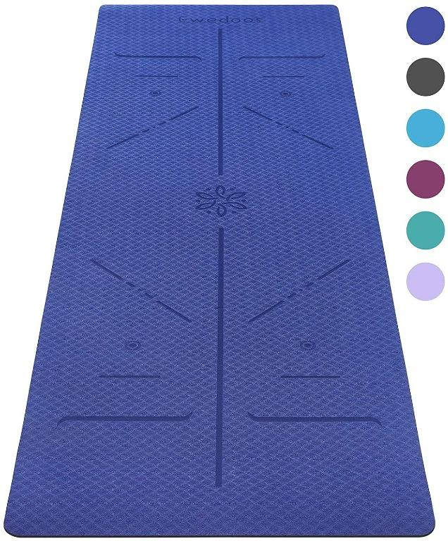 Eco Friendly Yoga Mat with Alignment Lines, TPE Yoga Mat ...