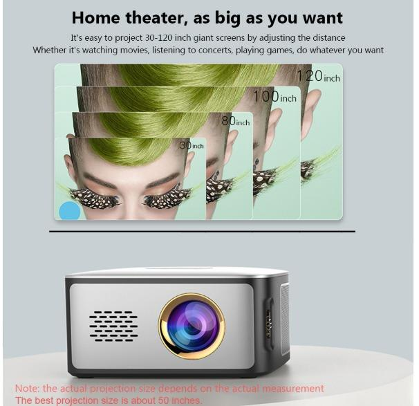 Full set Screen & Burger projector -battery version portable !