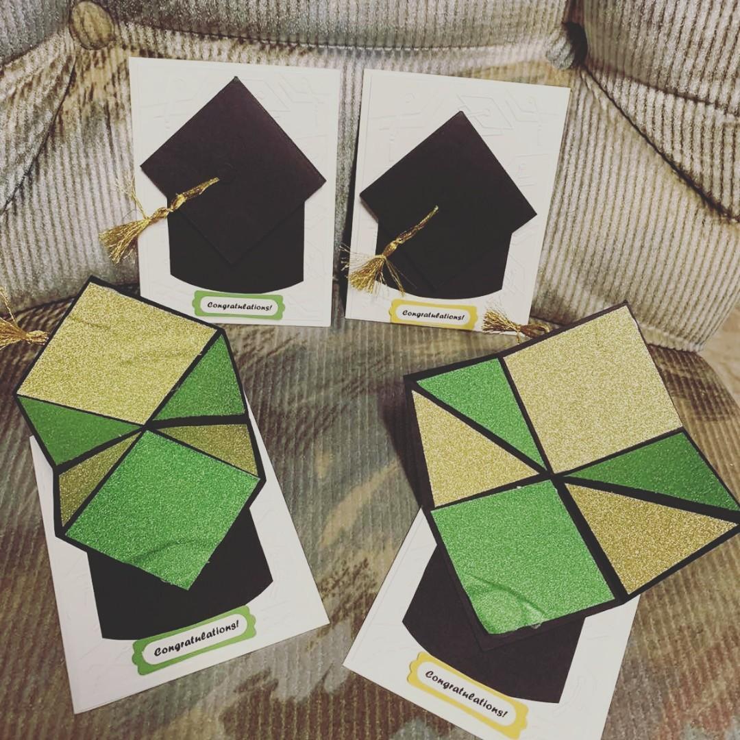 Grad cards homemade handmade