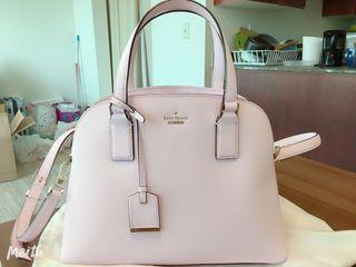 Kate Spade Pink Cameron St Lottie Leather Satchel Crossbody Bag