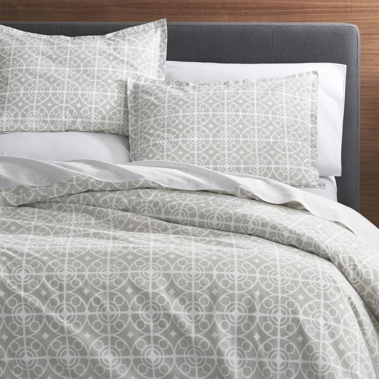 Like new Crate&Barrel | Taza King Duvet/Standard Shams Set