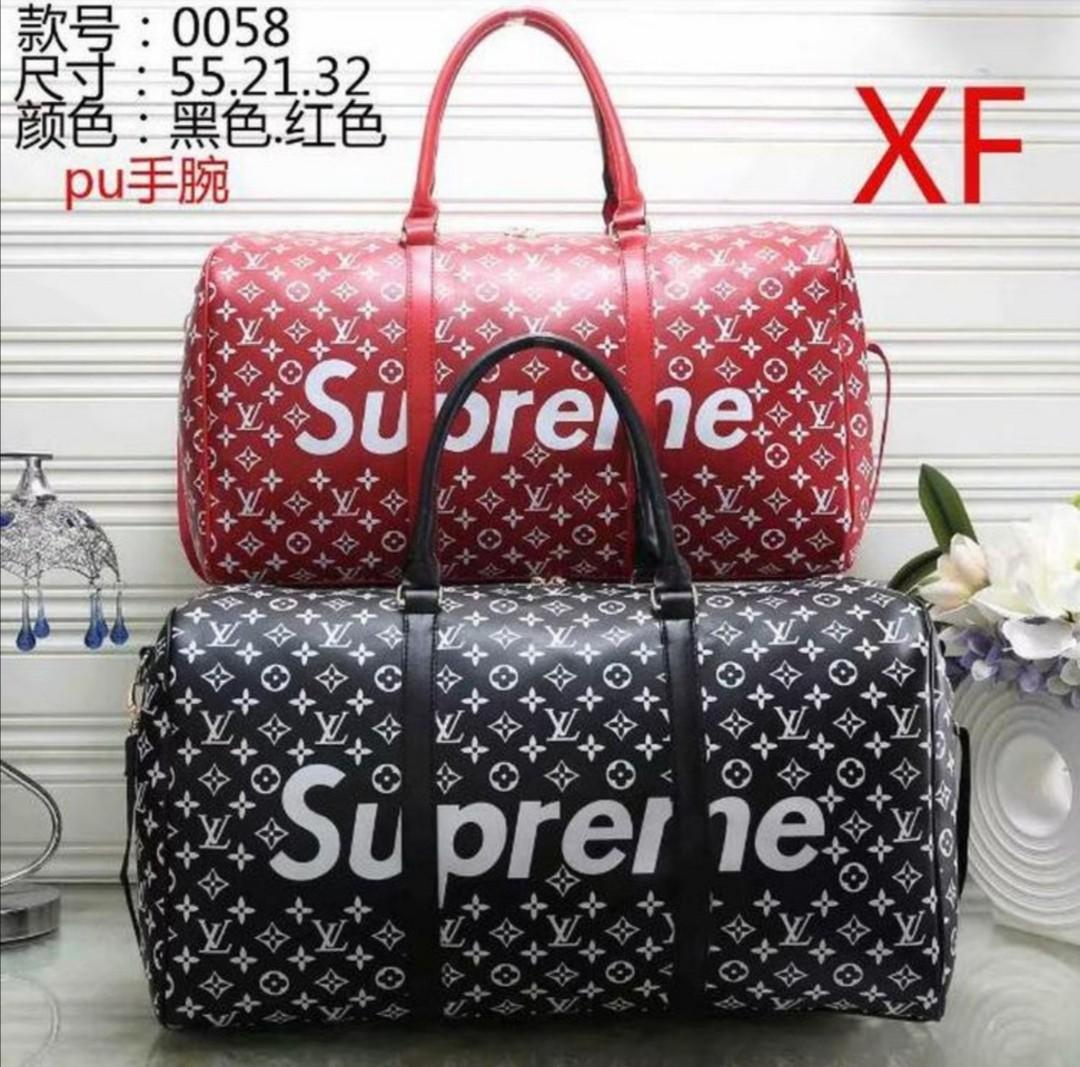Louis vuitton Supreme keepall Monogram Bag Travel Luggage