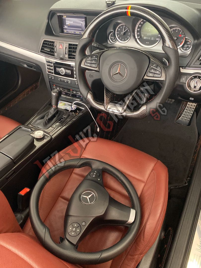Mercedes W207 Carbon Fibre Amg Steering Wheel Upgrade Car Accessories Accessories On Carousell