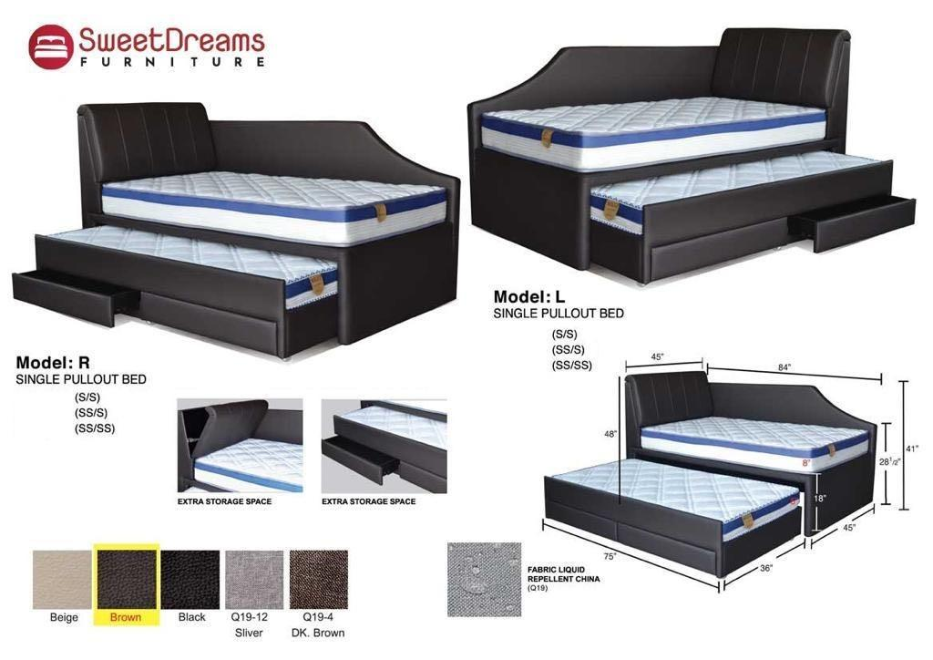 Storage Pull Out Bed Furniture Beds Mattresses On Carousell
