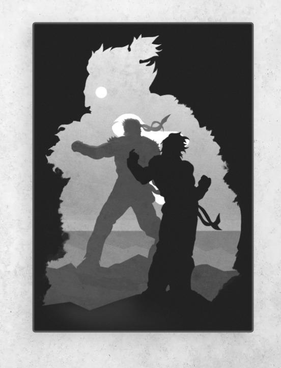 Street Fighter Gaming Canvas Painting Wall Art Design Craft