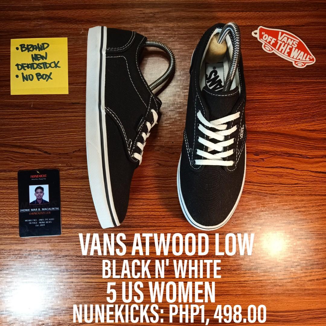Buy \u003e vans atwood low black white Limit