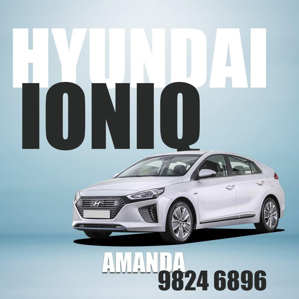 Hyundai Ioniq 2020 Brand New for Car Rent and Grab Rental